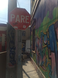 "I love that they say ""pare"" instead of ""alto"" on their stop signs."